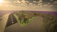 3d model of minecraft world
