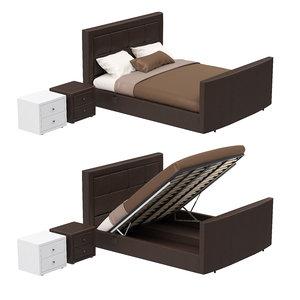 3d model bed lifting mechanism bedside