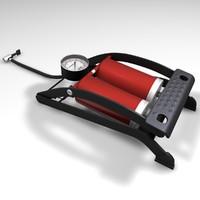 foot pump 3d model