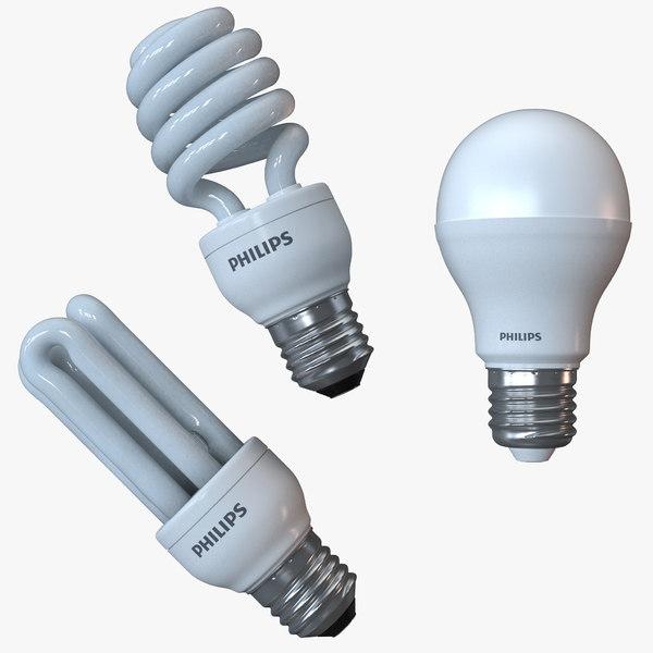 light bulbs philips 3d max