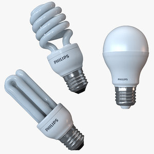 light bulbs philips 3d max