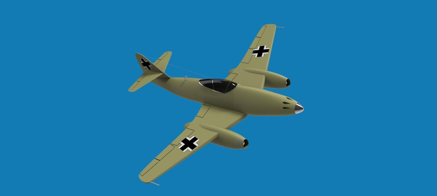 3d messerschmitt 262 model
