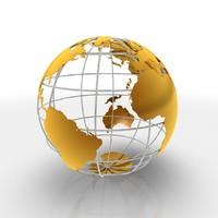 Globe and metal frame
