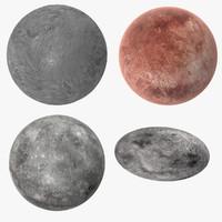 3d model dwarf planets
