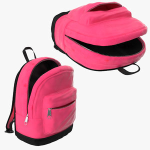 3d small kids backpack 2 model