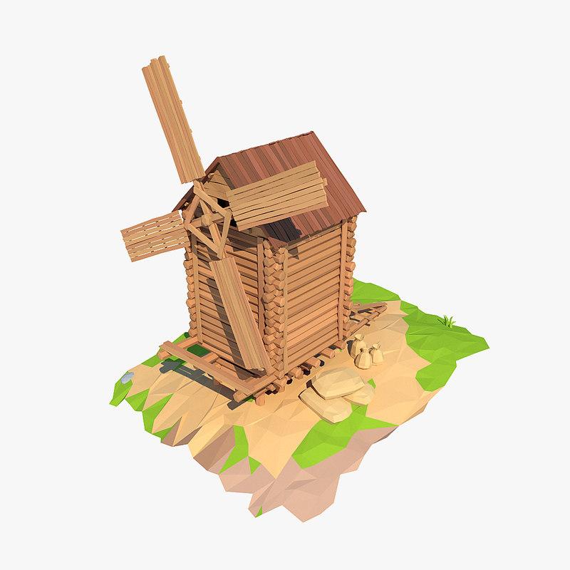 wooden windmill cartoon max