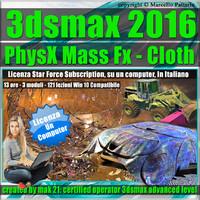 3ds max 2016 PhysX Mass Fx Cloth Locked Subscription, un Computer.