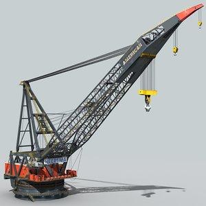 crane vessel 3d max