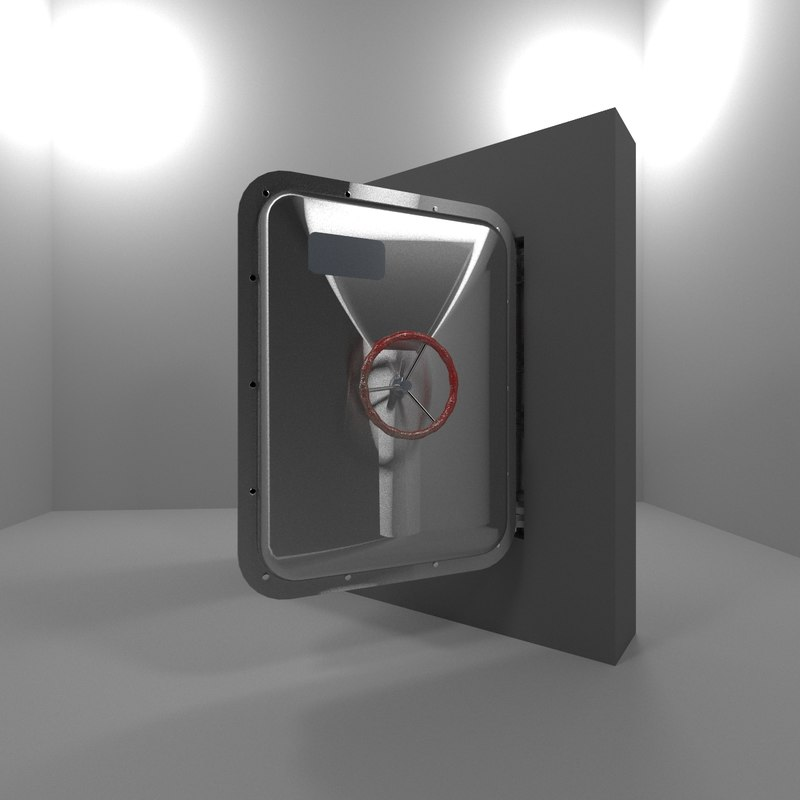 3d model bunker door