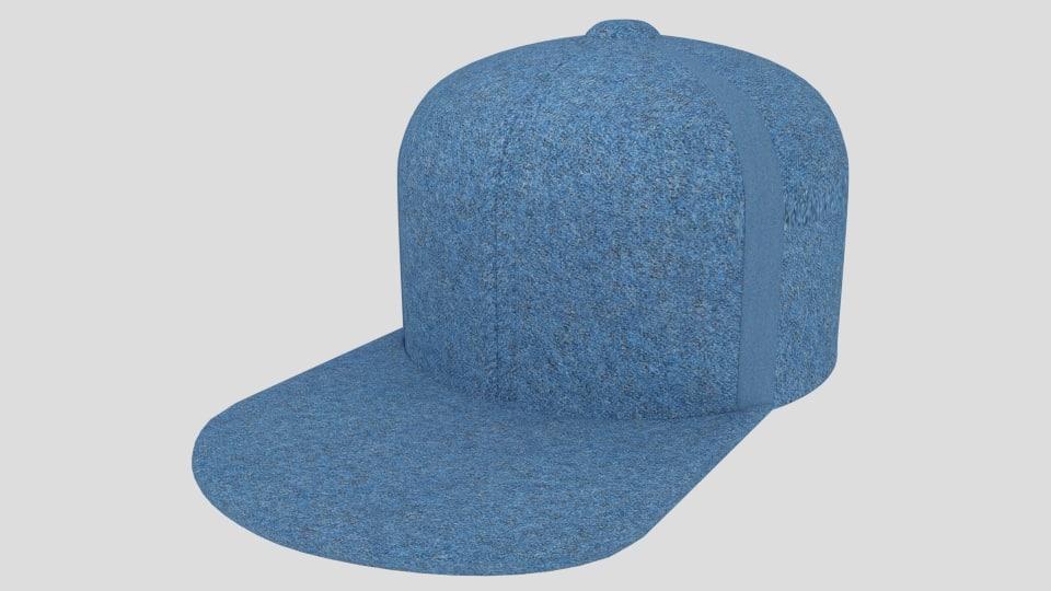 3d model washington baseball hat