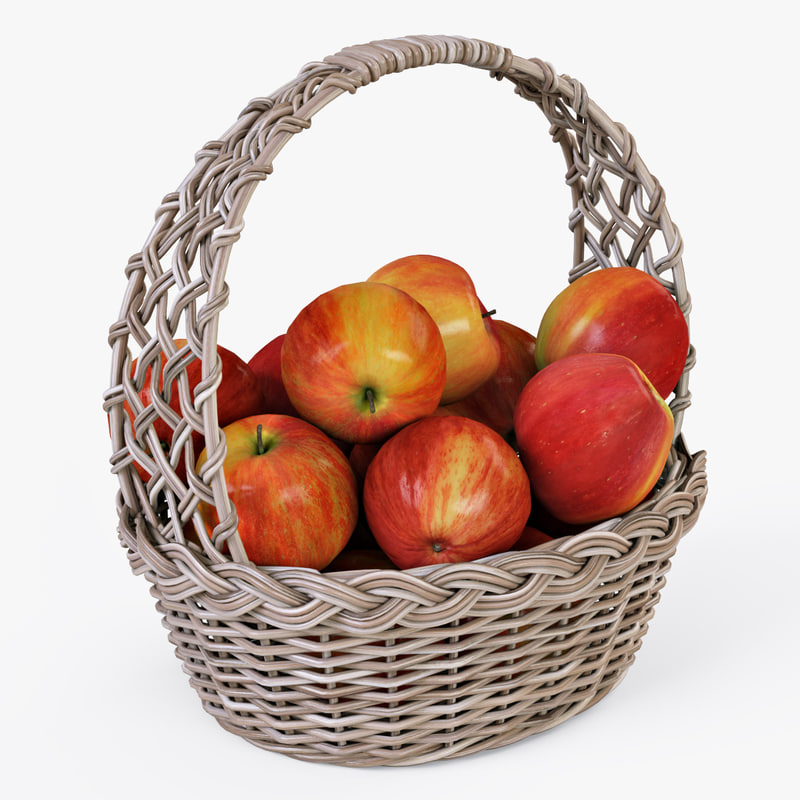 max wicker basket apples color