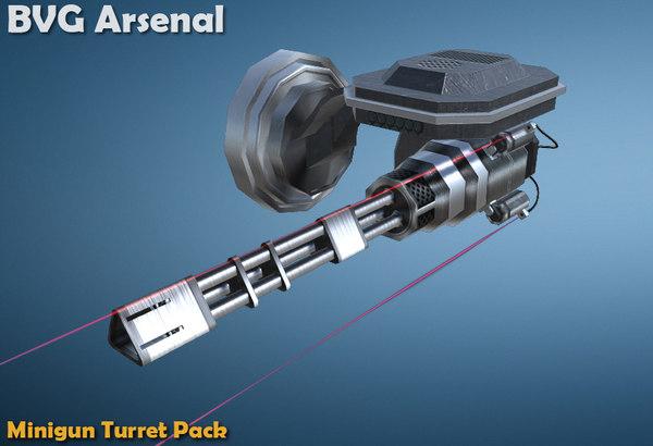 3d ma wall minigun turret