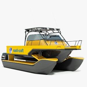 3d nauti-craft suspension catamaran model