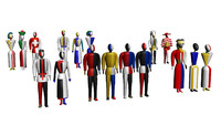 figurines malevich 3d model