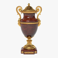 French 19th Century Louis XVI St. Rouge Griotte And Ormolu Lidded Urn