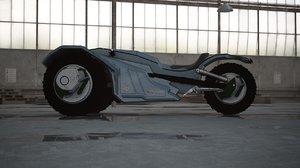 3d model sci fi bike