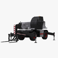 roto telescopic handler 3d model