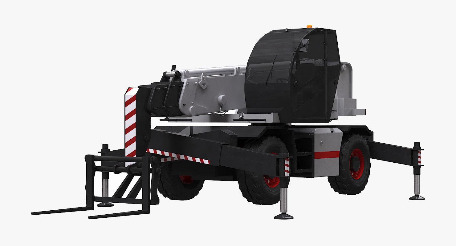 roto telescopic handler 3d model
