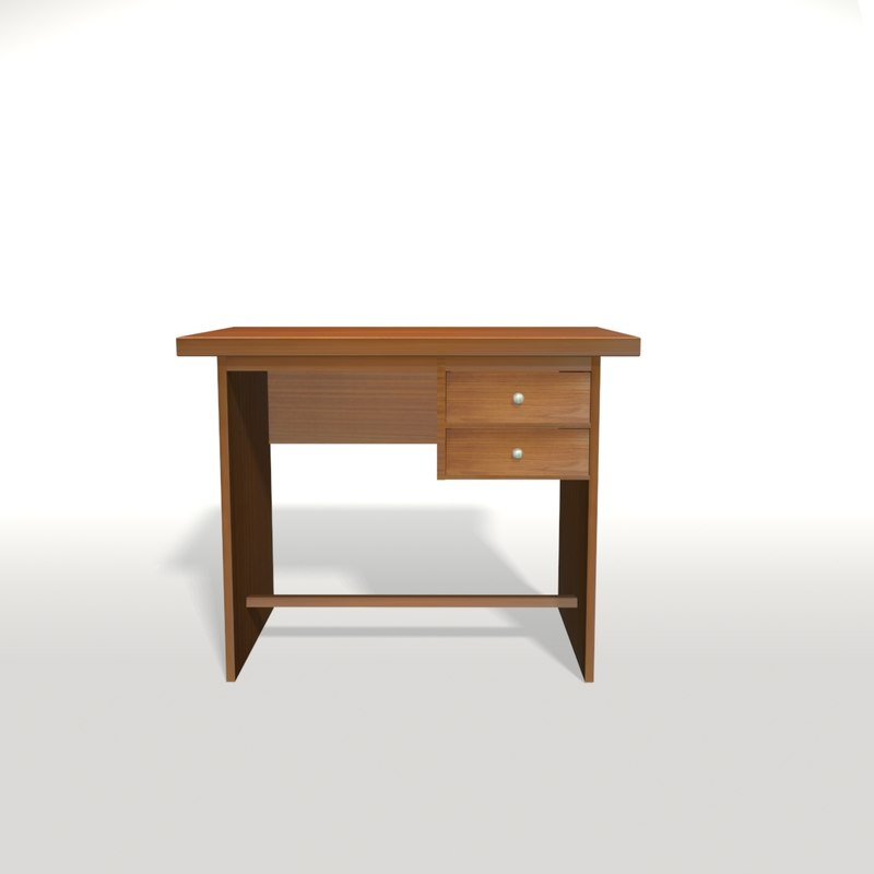 3d wooden desk office table