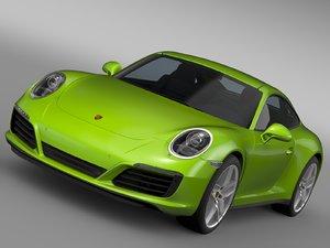 porsche 911 carrera s 3d model