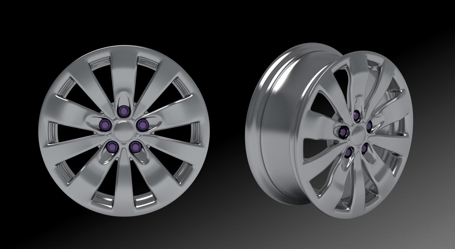 style wheel 3d model