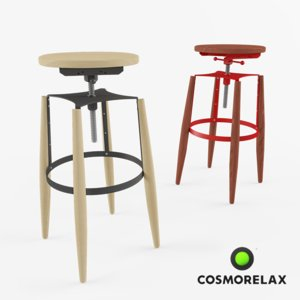 bar chair 3d 3ds
