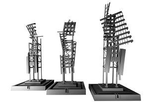 3d montreal emilie gamelin square model