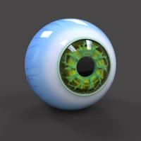 sci-fi eye obj