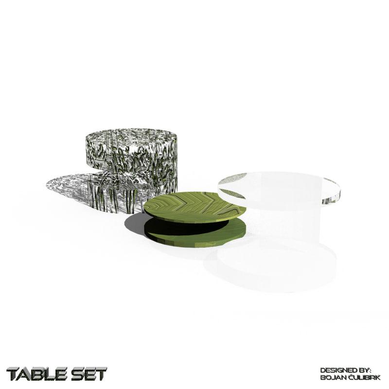 3d organic table set