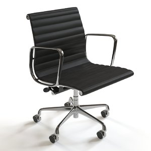 eames aluminum management chair 3d model