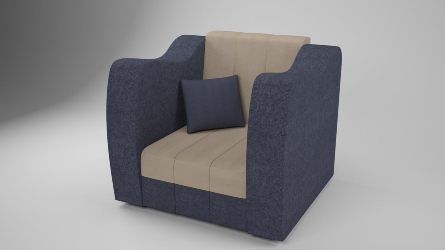 3d model of modern chair