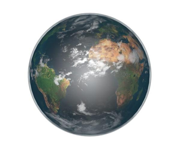 3d home earth lights model