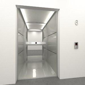 3d model elevator otis