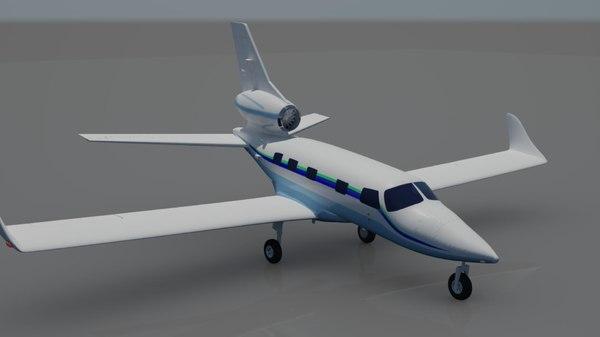 3d model piper jet