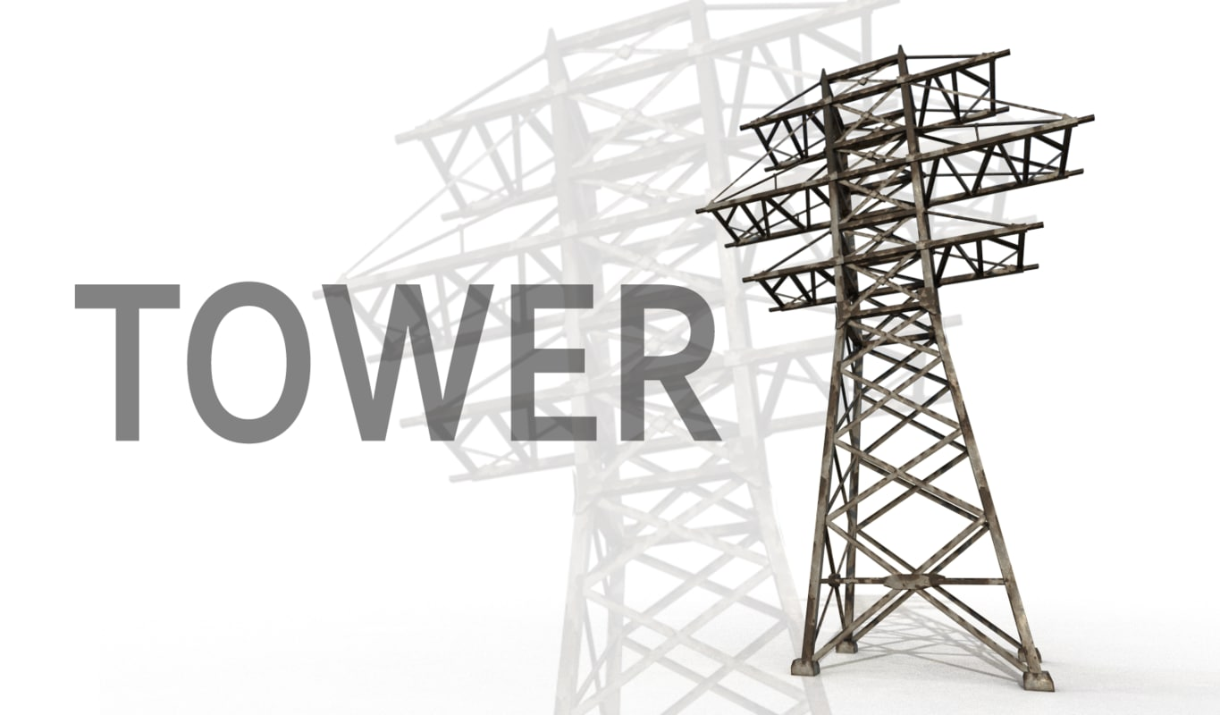 3d electricity transmission tower model