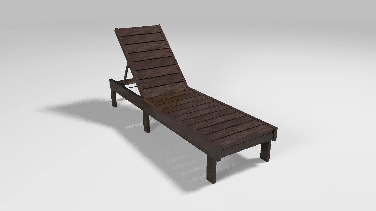 3d model of pool chair
