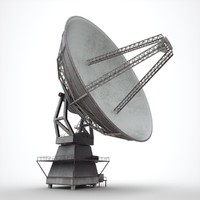 radio telescope 3d model