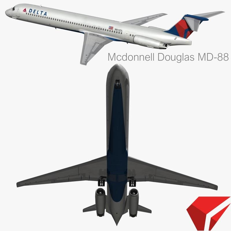 3d obj mcdonnell douglas delta air lines