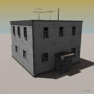 brick building 3d model