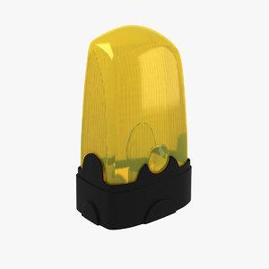 3d model signal lamp