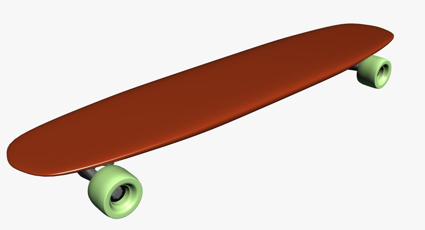 3d skate skateboard model