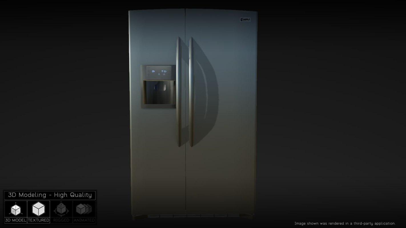 kitchen refrigerator 3d fbx