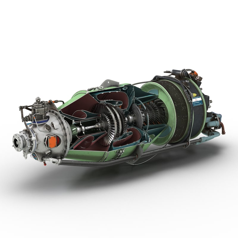 3d model turboprop aircraft engine canada