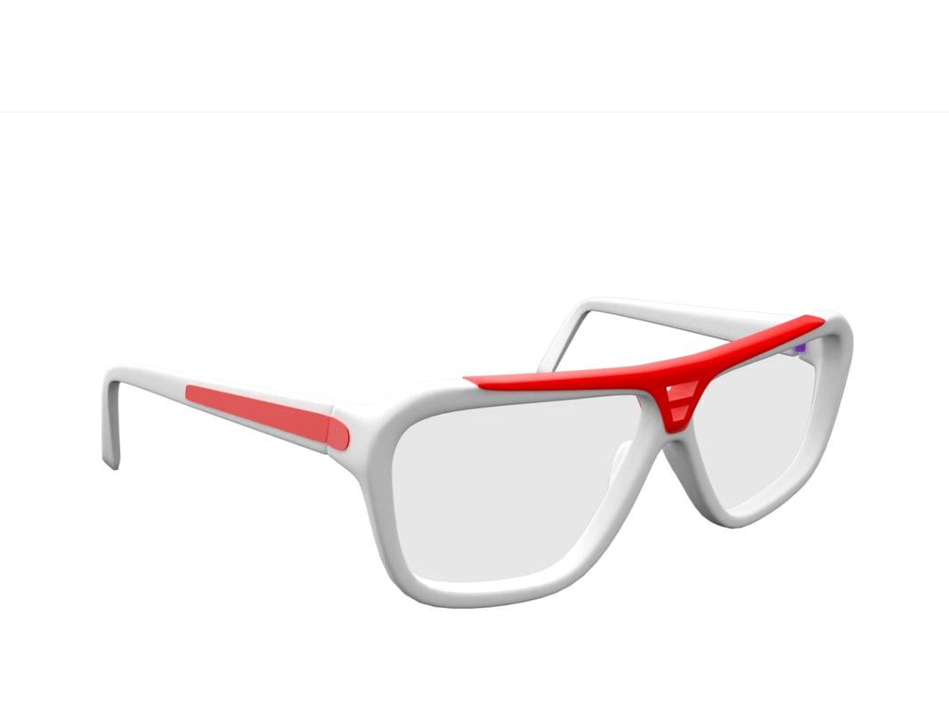 glasses 3d dxf