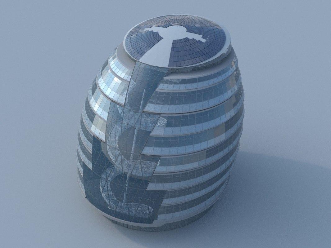 3d model london city hall