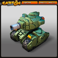 3d cartoon light tank model