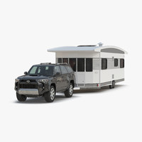 Toyota 4Runner and Hobby Caravan Landhaus