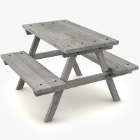 picnic wood table max