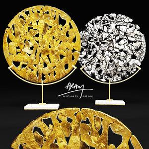michael aram golden disk 3d max