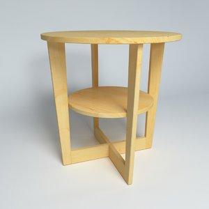 3d model ikea table vejmon 3